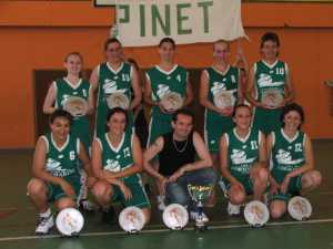 Seniors Filles 2006 Championnes de L'Hrault