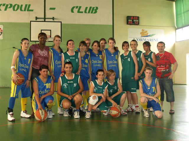 Equipe Minimes  championne 2009 de l'herault