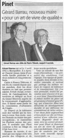 2008 - Election du Maire ---- Jacques BARRAU
