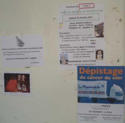 RANDO-PAELLA Samedi 22 Octobre 2011 12 Euros - 04.67.77.70.94 amicale.pinetoise@voila.fr