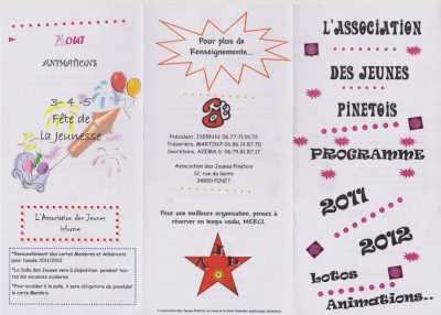 Calendrier de l'Association des Jeunes PINETOIS