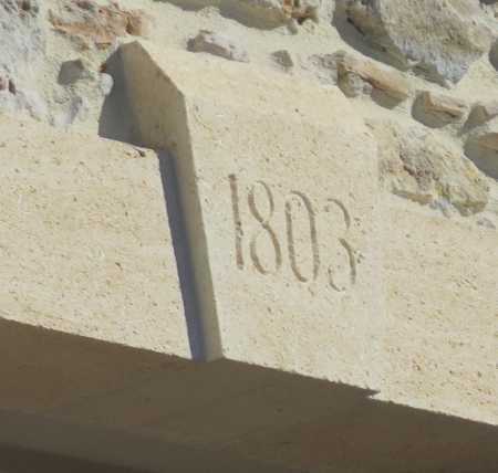 1803 La date de l'ancienne Eglise de PINET