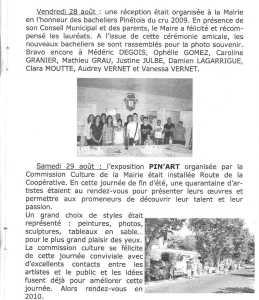 Les BACHELIERS PINETOIS cru 2009