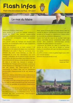 Highlight for Album: Le Journal de la Mairie  1er Semestre 2017