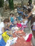 Pique nique des nounous de Pinet le 29 Juin 2007