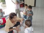Monique Vernet et les enfants