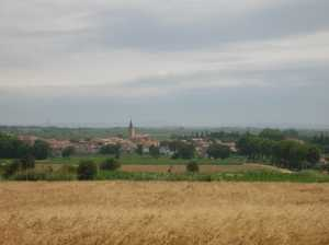 Le village vu des hauteurs de POMEROLS