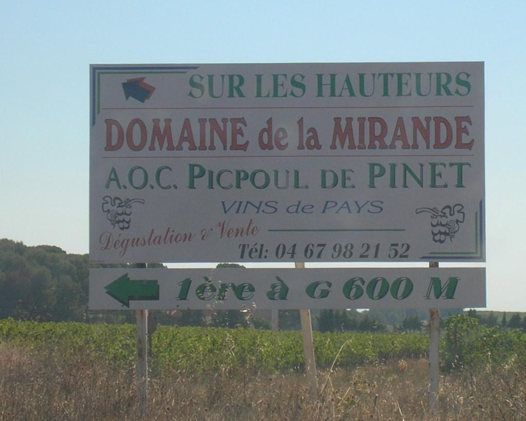Domaine de MIRANDE