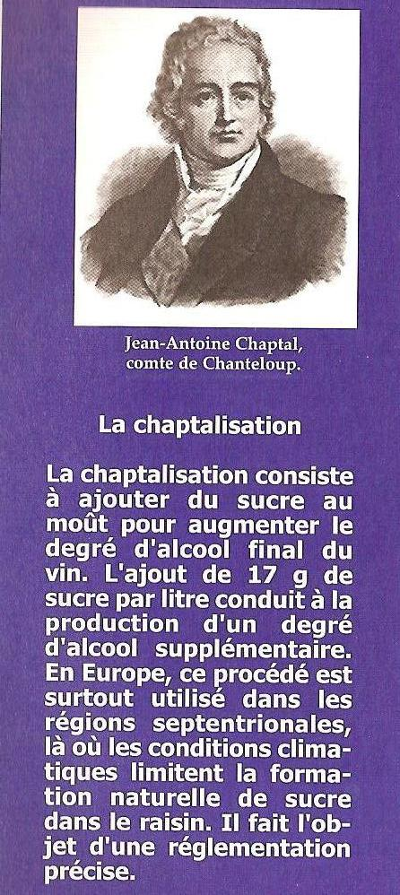 La Chaptalisation