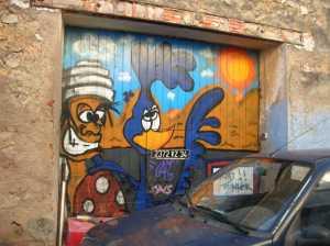 Rue du Foyer ---- Fresque peinte en 2006