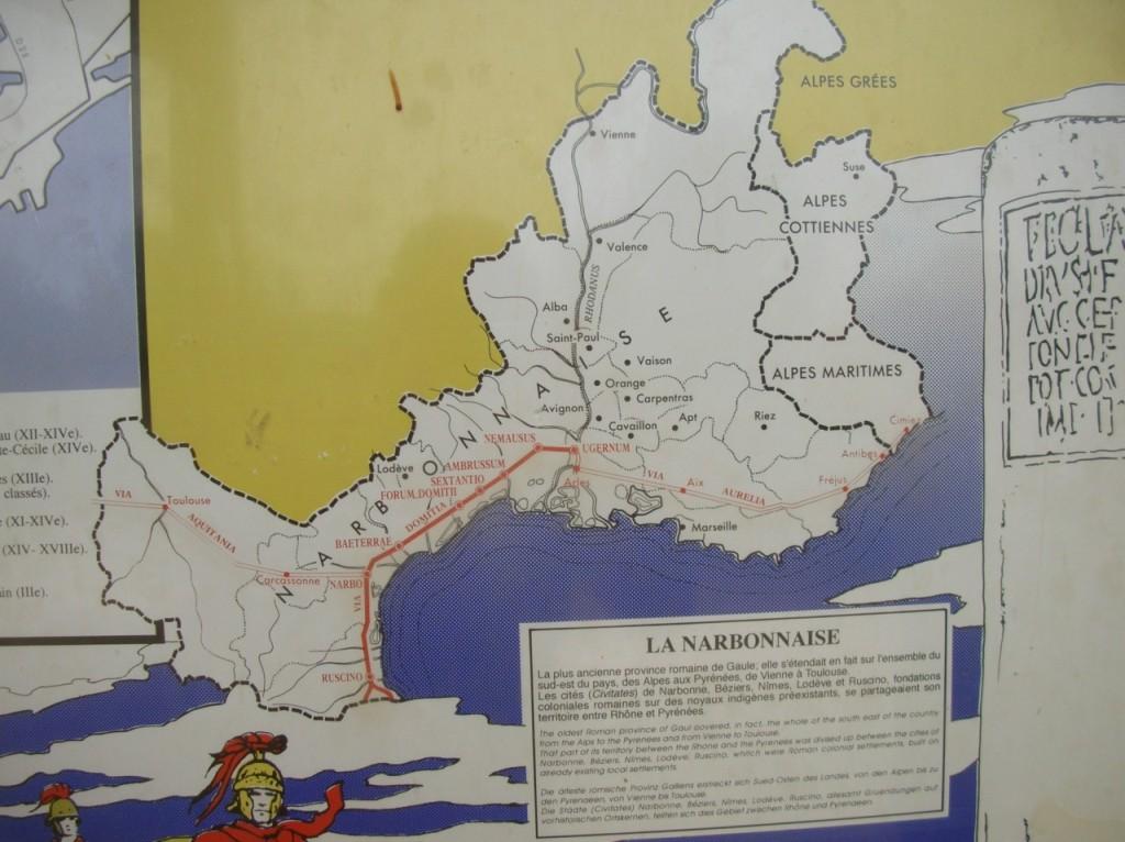 Trajet de la voie romaine
