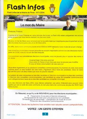 Highlight for Album: Journal de la MAIRIE - Mars 2014