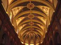 Plafond de l'Eglise de TOSSA (la peinture fait le relief)