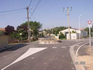 l'avenue des LAURIERS et le nouveau rond-point