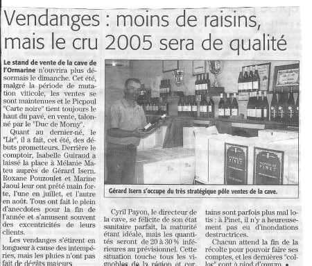 Vendanges 2005