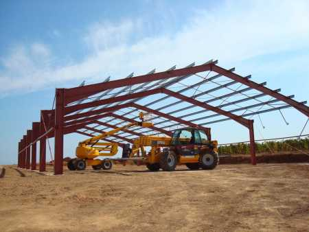 Construction d'un hangar agricole