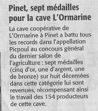 article du Midi Libre