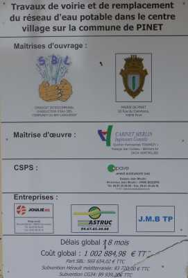 PINET Travaux de Voirie 1 million d'euros