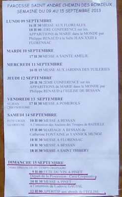 PAROISSE ST ANDRE des ROMIEUX