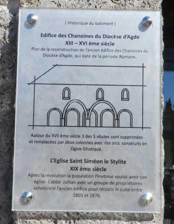 Historique du batiment de l'ancienne Eglise de Pinet