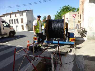Pose du cable