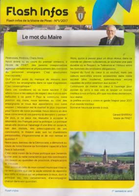 Photo-titre pour cet album: Le Journal de la Mairie  1er Semestre 2017