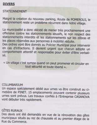 Le Stationnement Le Columbarium Les Gites Ruraux