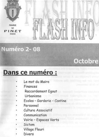 Photo-titre pour cet album: FLASH INFO - Octobre 2008
