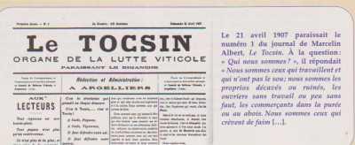 La Guerre du Vin Le TOCSIN Dimanche 24 Avril 1907