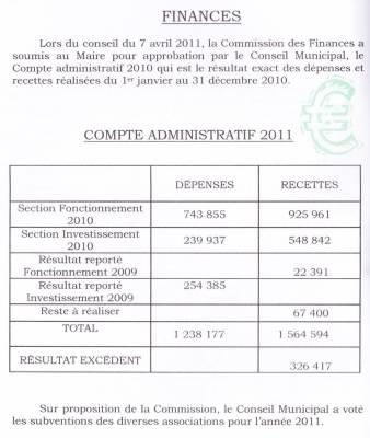 Photo-titre pour cet album: Journal de la Mairie1er semestre 2011