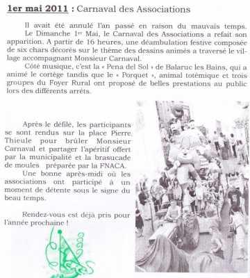 1er Mai 2011 : le Carnaval des Associations