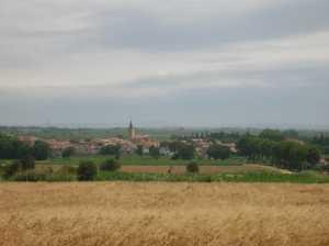Le village vu des hauteurs de POMEROLS