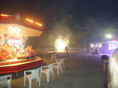 le feu d'artifice  du Samedi soir
