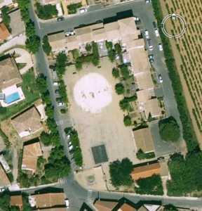 La Place du Mail Vue Satellite