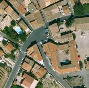 Place de l'Ancienne Poste vue satellite