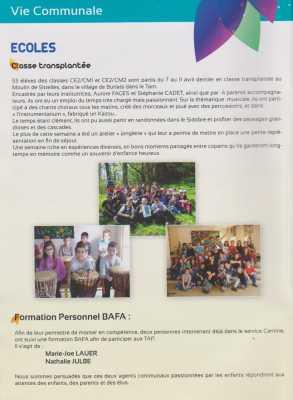 PINET  Sorties scolaires 7 au 12 avril : Moulin de Sistelles dans le village de BURLATS (Tarn)