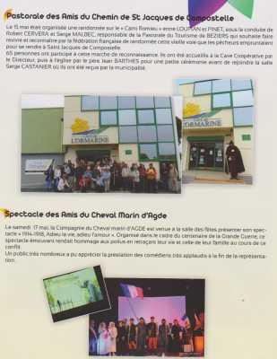 Pastorale des Amis de Saint Jacques de COMPOSTELLE  Spectacle des Amis du Cheval Marin d'Agde 17 Mai 2014
