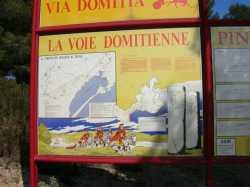 Panneaux d'explications sur la voie romaine