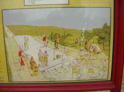 Construction de la voie romaine