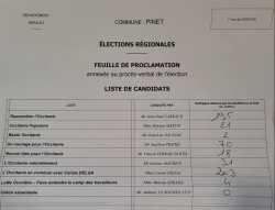2021 - Elections Regionales 1er Tour
